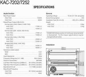 Solved  Kac-8070 Kenwood 4-channel Power Amp