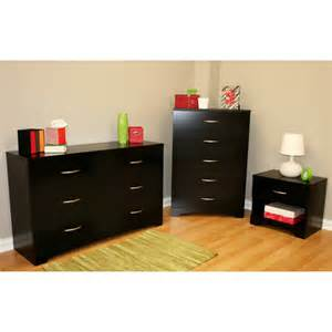 south shore soho 3 dresser and nightstand set black furniture walmart
