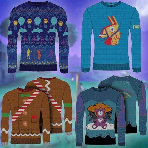 fortnite holiday sweaters bring  battle royale