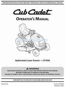 Cub Cadet Lt1045 Operator U0026 39 S Manual Pdf Download