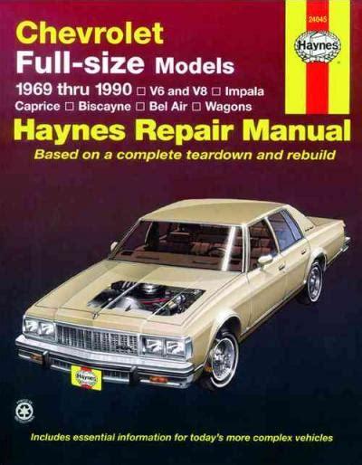 small engine repair manuals free download 1968 chevrolet camaro auto manual chevrolet full size models 1969 1990 haynes service repair