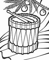 Coloring Drum Djembe Template sketch template