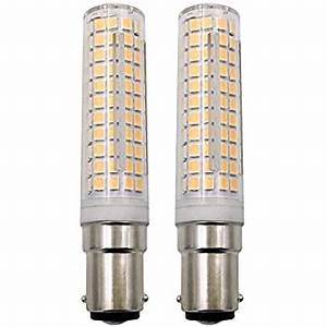 Bonlux Led Sewing Machine Light Dimmable Ba15d Led Light Bulb 7w 120v Double Contact