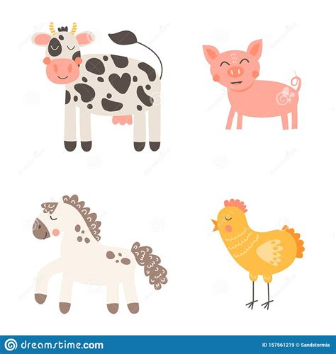 Free icons of farm animals in various design styles for web, mobile, and graphic design projects. Vector Illustration. Nursery Print Cute Funny Farm Animals ...