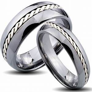 Chic ideas for his and hers wedding bands wedding and for Matching lesbian wedding rings