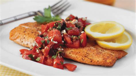 Panseared Trout With Italianstyle Salsa  Quick And Easy