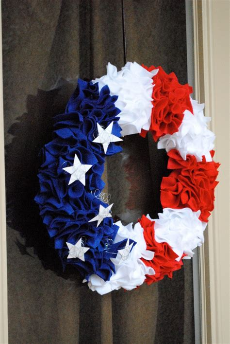 july wreath   coffee filters celebrate