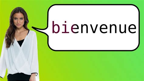 How to say 'welcome' in French? - YouTube