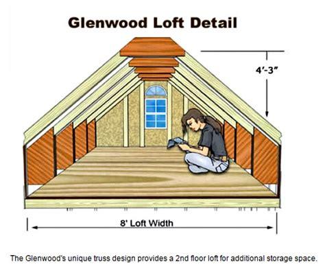 Best Barns Glenwood 12x24 Wood Storage Garage Kit