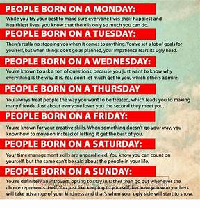 People Born On A Monday While You Try Your Best To Make