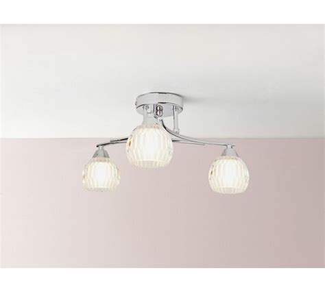 buy collection 3 light ceiling light chrome at