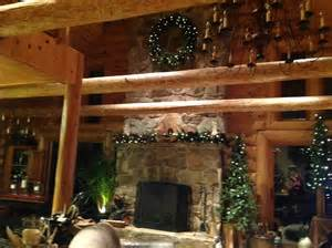 Lights Over Fireplace by Holiday Highlights Expedition Log Homes Llc