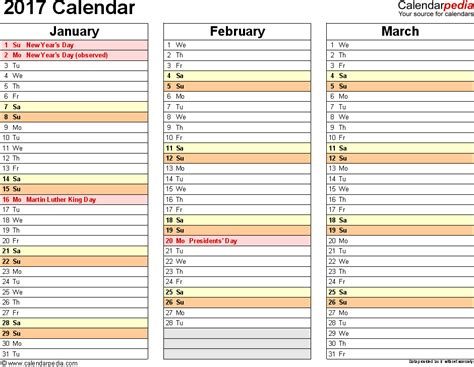 Printable 2015 Calendar Three Months Per Page 2015 Calendar Three Months Per Page With Holidays