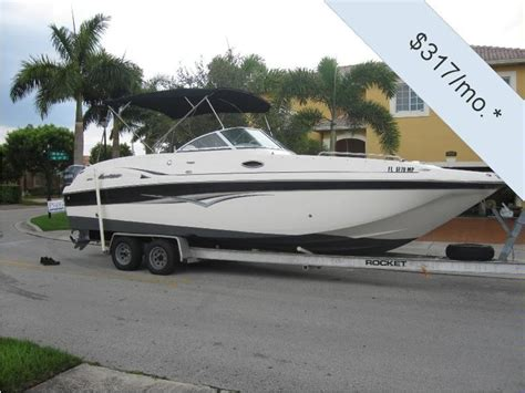 Hurricane Deck Boat Dimensions by Hurricane Sundeck 260 In Florida Power Boats Used 15557