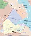Djibouti Map - Africa