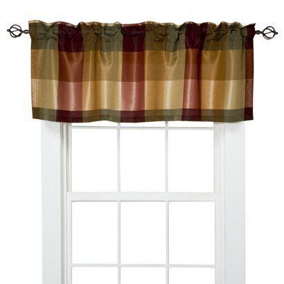 target home plaid valance red 54x18 quot i love jan for