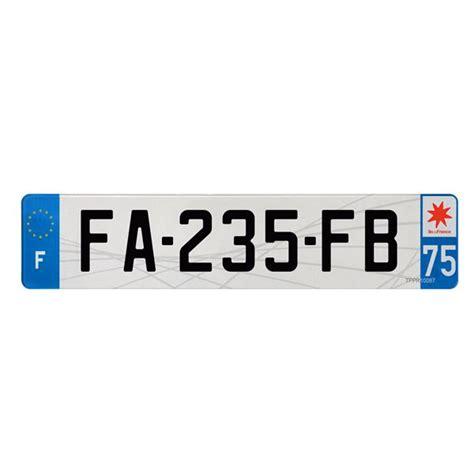 plaque immatriculation plastique 520 x 110 mm d 233 partement 75 feu vert - Feu Vert Plaque Immatriculation