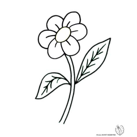 disegni di fiori disegno di fiore con foglie da colorare per bambini