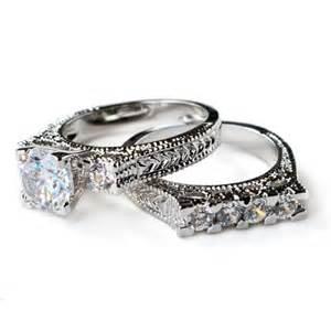 deco wedding ring cz ring cz wedding ring cz engagement ring wedding ring set ring set vintage style