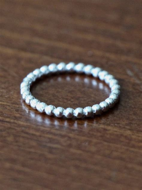 stackable personalized  ring set kandsimpressions