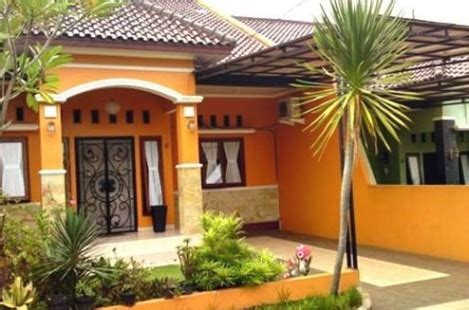 kombinasi warna cat tembok orange rumah minimalis tips