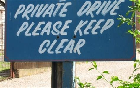 Private Drive Please Keep Clear Sign In England Funny