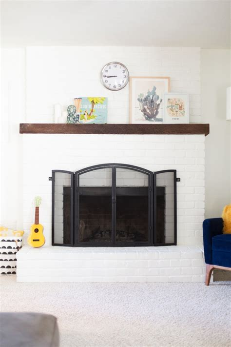 white fireplace paint how to paint a brick fireplace white