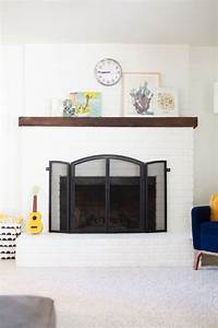 how to paint a brick fireplace white lovely indeed With best brand of paint for kitchen cabinets with brooklyn bridge metal wall art
