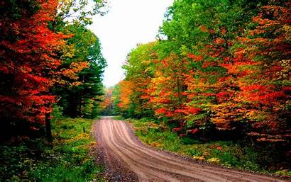 Desktop Autumn Wallpapers Road Backgrounds Fall Background