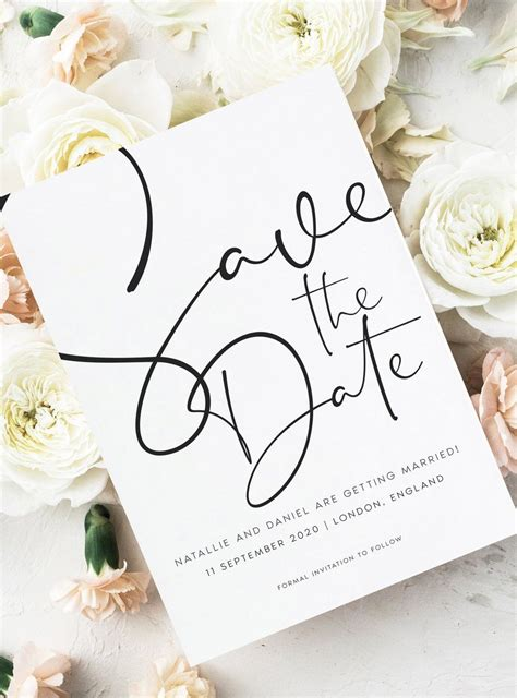 Save the Date cards for modern weddings Blush wedding
