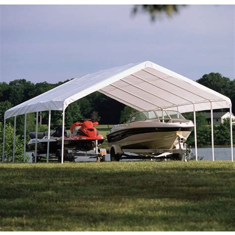 Shade Canopy by Shelterlogic 12 X 30 Shade Canopy In Canopies