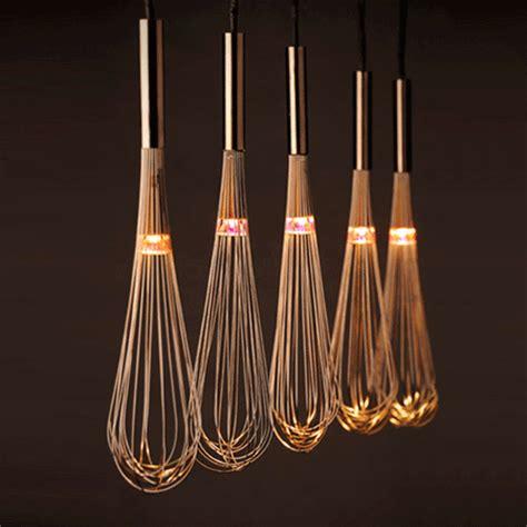 HOME DZINE Home Decor   Pendant lamps using whisks
