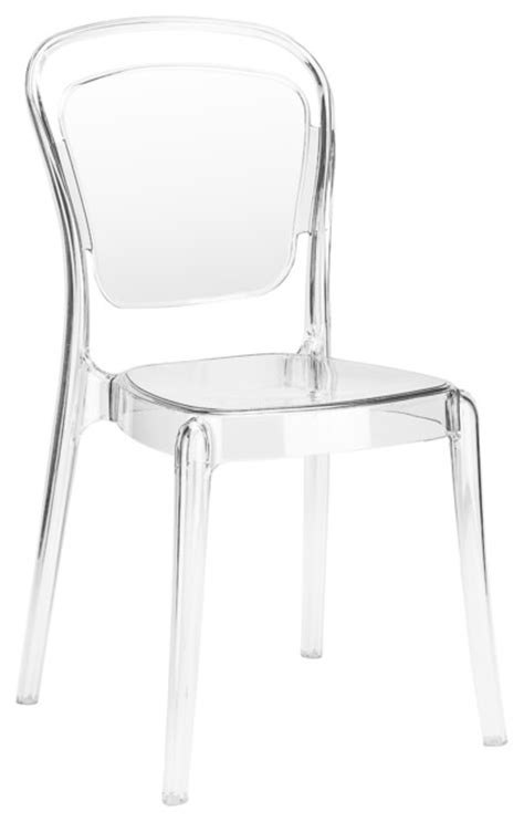 modern acrylic dining side chair clear contemporary