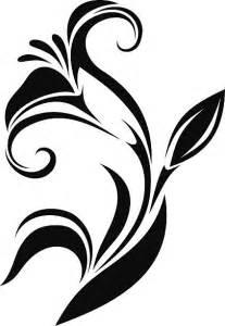 Black Flower Silhouette Clip Art