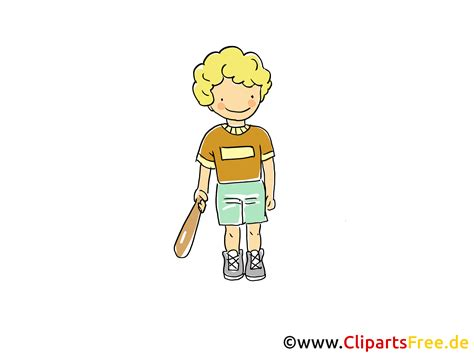 baseballspieler bild sport clipart comic cartoon image