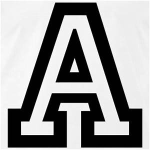 stencil greek letters t shirts spreadshirt With big greek letters