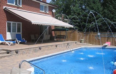 multi toned brown physique xl awning rolltec retractable awnings toronto ontario canada