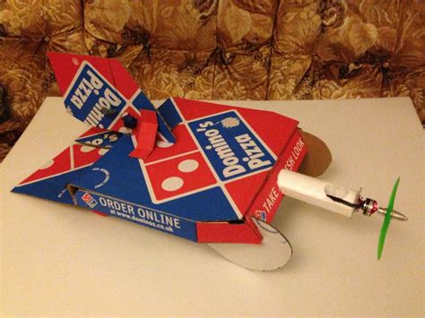 dominos pizza box airplane   steps  pictures