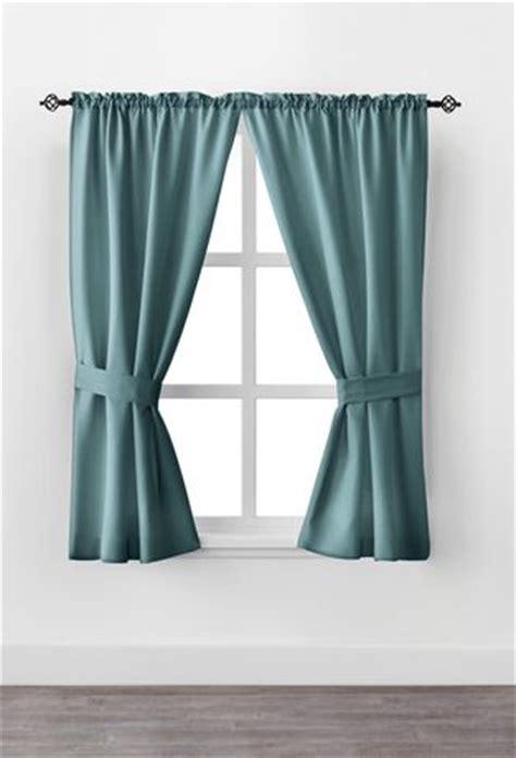 mainstays bennett  rod pocket window curtain drapery