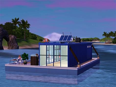 timis shipping container houseboat