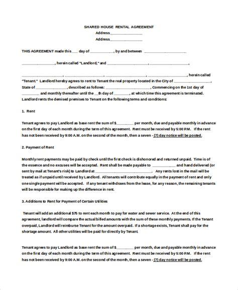 house rental agreement template 18 house rental agreement templates doc pdf free premium templates