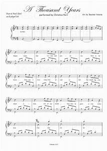 A Thousand Years by Christina Perri Piano sheet