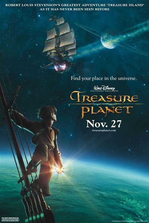 A futuristic twist on robert louis stevenson's treasure island, treasure planet follows restless teen jim hawkins on a fantastic journey across the univers. Treasure Planet (#2 of 3): Extra Large Movie Poster Image - IMP Awards