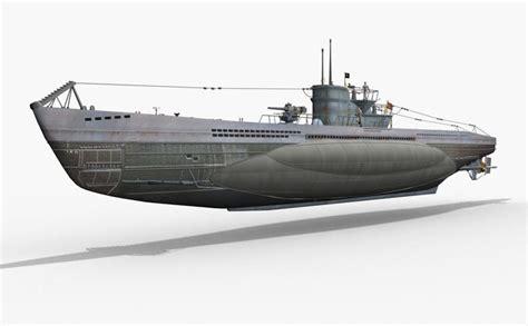 Types Of German U Boats by German U Boat Type Vii 3d Model Cgtrader