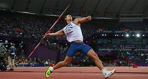 Javelin thrower wins gold after driving javelin through ...