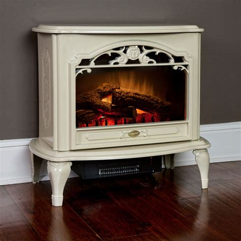 Dimplex Cream Freestanding Electric Stove Fireplace Ebay