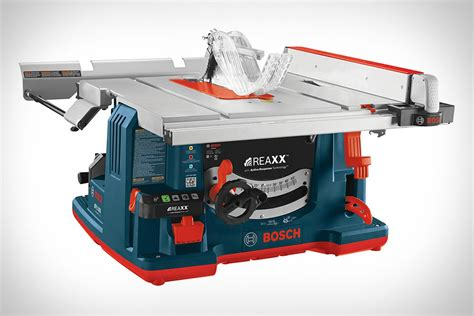 bosch jobsite table saw bosch reaxx portable jobsite table saw uncrate