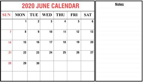 blank june  printable calendar  holidays