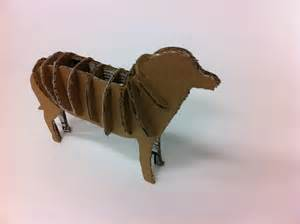 3D Cardboard Animal Sculpture