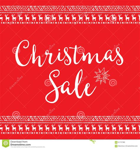 christmas sale invitation flyer with graphic stock vector